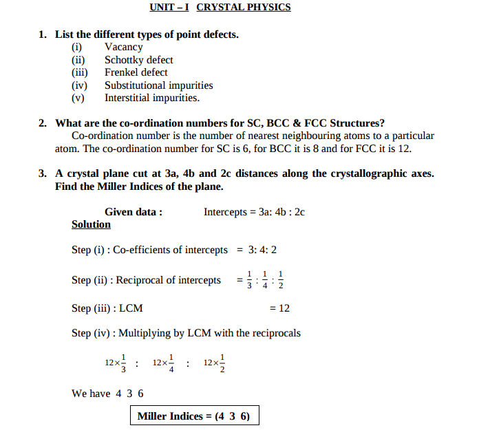 engineering physics 1 important 2m