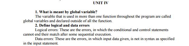 computer programming important questions