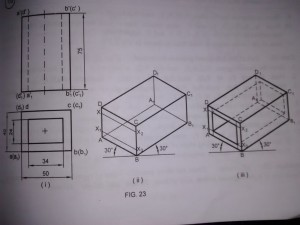 isometric projection of prism