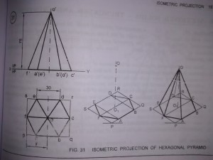 Isometric Projection of Pyramids