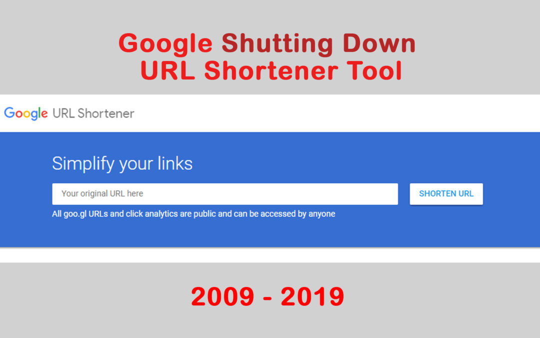 google shutting down url shortener