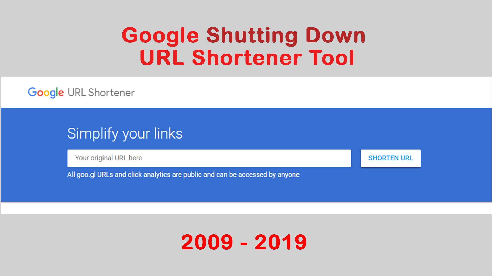 google shutting down url shortener