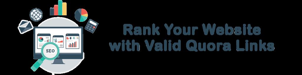 rank your website with quora links