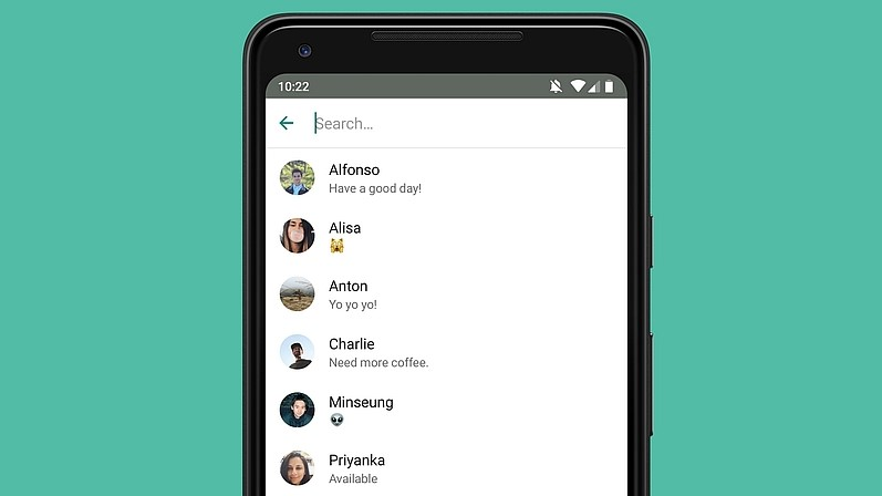 WhatsApp New Feature - Recipient Search