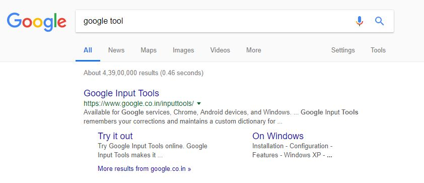 google search snippet