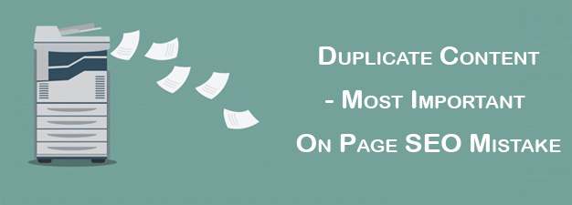 duplicate content - on page seo mistakes