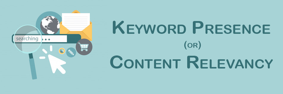 keyword presence - on page seo mistakes