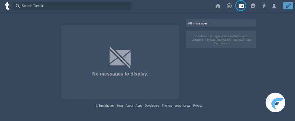 inbox in tumblr account