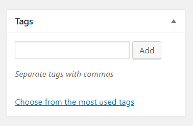Add Tags - How to publish post in wordpress