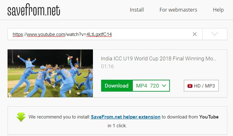 download youtube video by editing a link