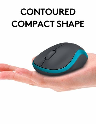 Logitech MK275 Wireless Contoured Compact Shape Mouse