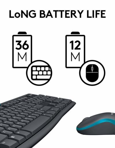 Logitech MK275 Wireless Keyboard & Mouse with Long Battery Life