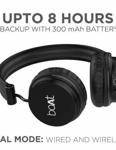 Boat Rockerz 400 On-Ear Bluetooth Headphones- DUal Mode