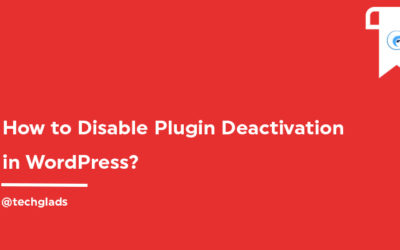 How to disable Plugin Deactivation in WordPress?