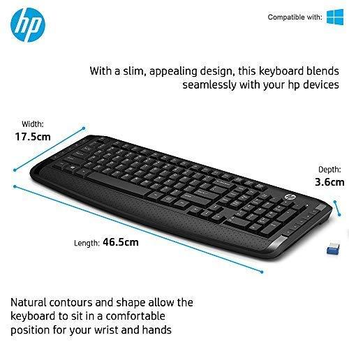 HP 3ML04AA Wireless Keyboard and Mouse Combo - Keyboard