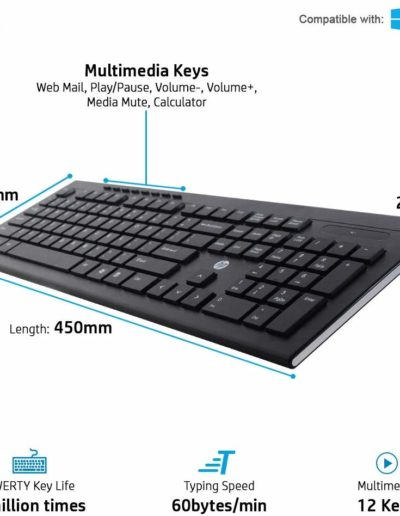 HP Multimedia Slim Wireless Keyboard
