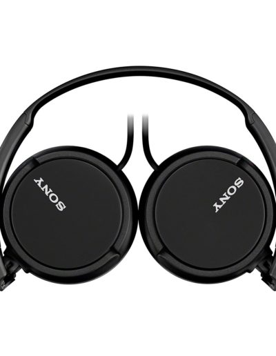 Sony MDR-ZX110 On-Ear Stereo Headphones (Black) - Powerful Sound