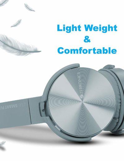 Zebronics Zeb-Smart Plus Wireless Headphone with Voice Assistant - Weightless