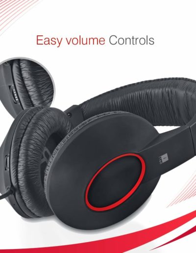 iBall EarWear Rock, Pitch Perfect Sound, Over-Ear Wired Headphones with Mic, Easy Voulme Control